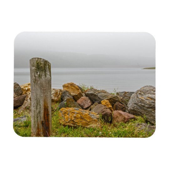 Lake Fog Rectangular Photo Magnet