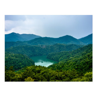 lake fontana aerial great smoky mountains north ca postcard