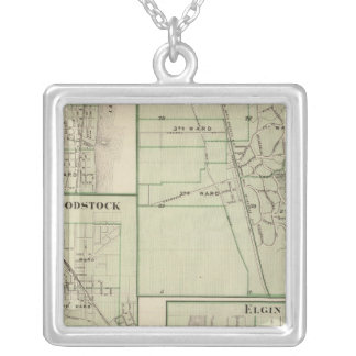 Lake Forest, Elgin, Waukegan, Woodstock Square Pendant Necklace