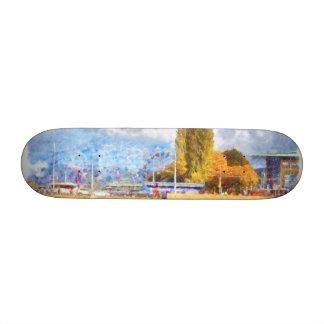 Lake front fun in Luzern 18.1 Cm Old School Skateboard Deck