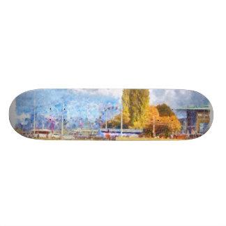 Lake front fun in Luzern 21.3 Cm Mini Skateboard Deck
