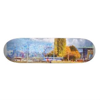 Lake front fun in Luzern Custom Skateboard