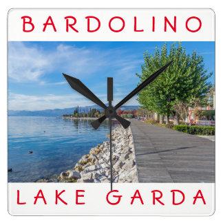 Lake Garda Bardolino square wall clock
