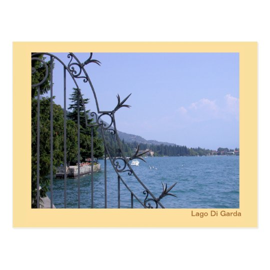 Lake Garda  from the boardwalk in Salò Postcard