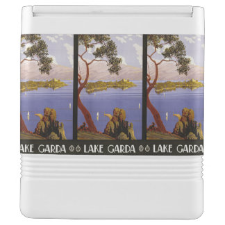 Lake Garda Italy Vintage Travel custom cooler Igloo Cool Box