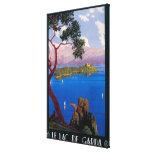 Lake Garda Travel Promotional Poster Gallery Wrap Canvas