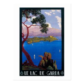 Lake Garda Travel Promotional Poster Postcard
