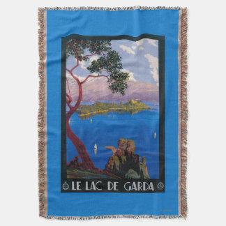 Lake Garda Travel Promotional Poster Throw Blanket