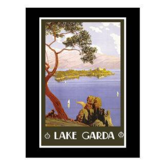 """""""Lake Garda"""" Vintage Italian Travel Poster Postcard"""