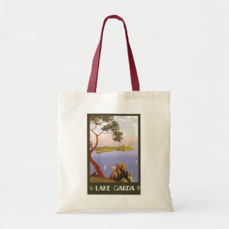 """Lake Garda"" Vintage Italian Travel Poster Tote Bag"