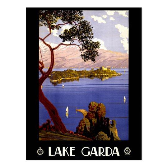Lake Garda Vintage Poster Restored Postcard