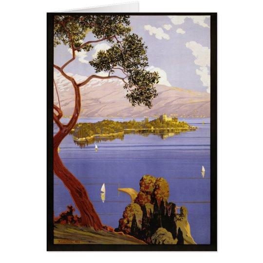 Lake Garda Vintage Travel Art Card