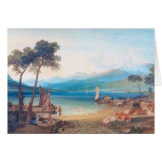Lake Geneva and Mount Blanc Joseph Mallord William Note Card