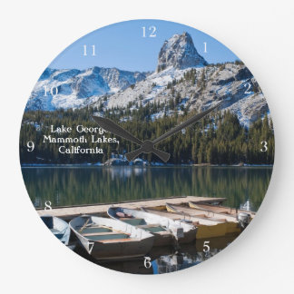 Lake George Mammoth Large Clock