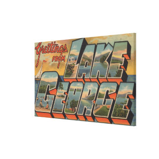 Lake George, New York - Large Letter Scenes Canvas Print
