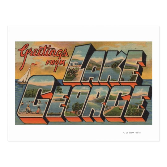 Lake George, New York - Large Letter Scenes