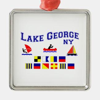 Lake George NY Signal Flags Christmas Ornament