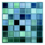 Lake Glass Tile Mosaic Poster up to 28x28