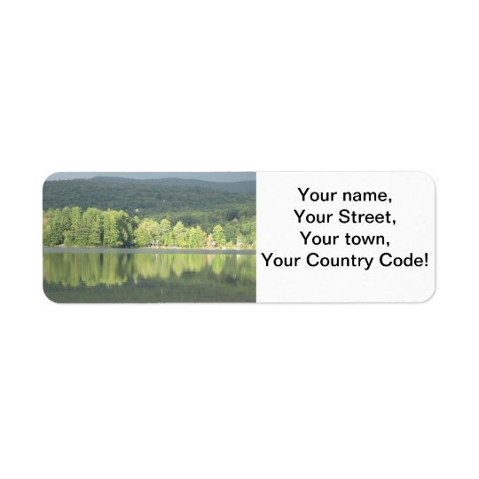 Lake Green Trees Reflection Return Address Label