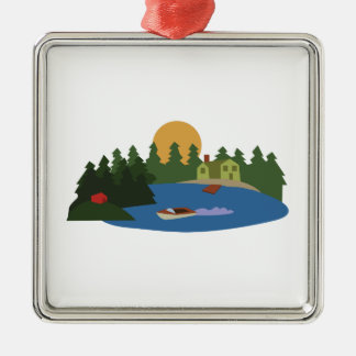 Lake House Christmas Ornament