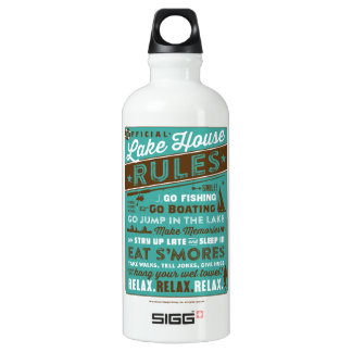 Lake House Rules Water Bottle