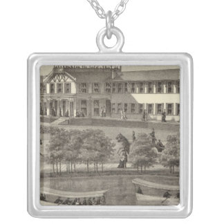 Lake House, Spring Lake, NJ Silver Plated Necklace