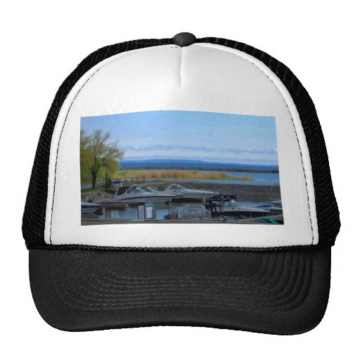 Lake Huron Collingwood Ontario Trucker Hat