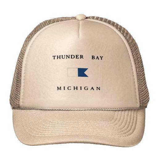 Lake Huron Michigan Alpha Dive Flag Mesh Hats