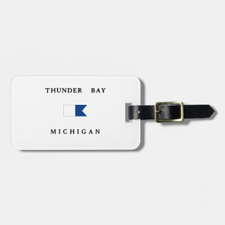 Lake Huron Michigan Alpha Dive Flag Tags For Bags