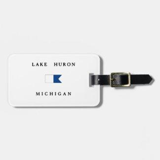 Lake Huron Michigan Alpha Dive Flag Travel Bag Tag
