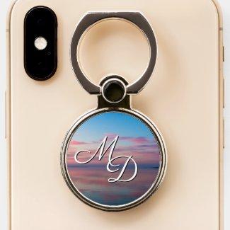 Lake Huron Pink Sunrise Monogram Phone Grip