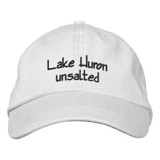 Lake Huron - unsalted Embroidered Hat