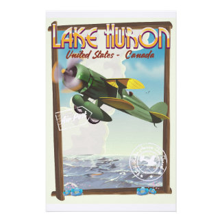 Lake Huron - USA - Canada Stationery