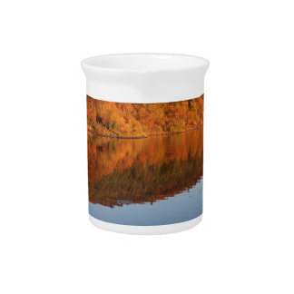 Lake in autumn drink pitcher