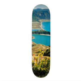 Lake in Azores islands 20.6 Cm Skateboard Deck