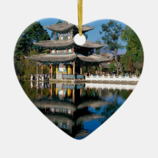 Lake in China Ceramic Heart Decoration