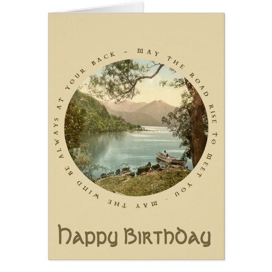 Lake in Kerry Ireland Vintage Happy Birthday Card