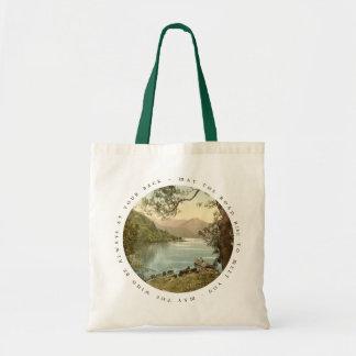 Lake in Kerry Ireland with Irish Proverb Bag
