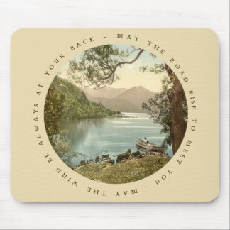 Lake in Kerry Ireland with Irish Proverb Mouse Pad