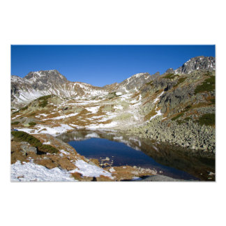 Lake in mountain in High Tatras, Slovakia Photo Print