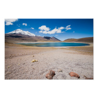 Lake in The Andes Poster