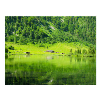 """Lake """" in the mountains""""Lake green fores Poster"""