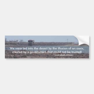 lake lahontan Fallon Nevada Churchill County Car Bumper Sticker