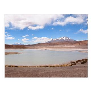 Lake landscape on the Altiplano postcard