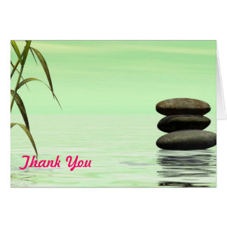 lake landscape thank you note card