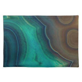 Lake Like Teal & Brown Agate Placemat