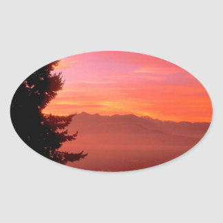 Lake Living Waters Hood Canal Oval Sticker