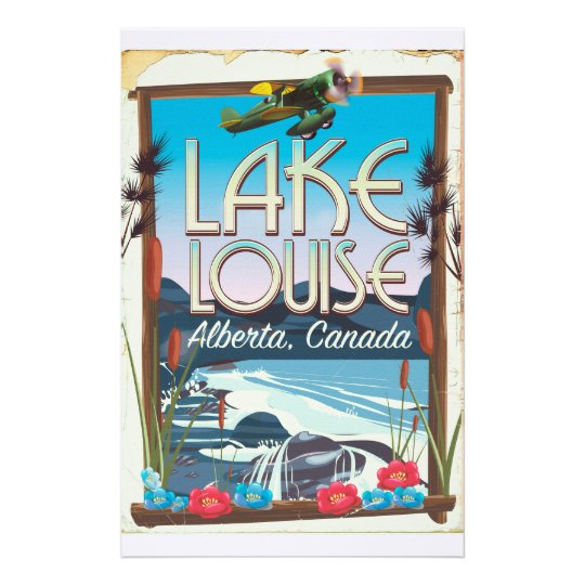Lake Louise, Alberta Canada travel poster Stationery