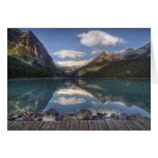 Lake Louise at sunrise, Banff National Park, Greeting Card