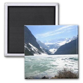 Lake Louise, Banff, Alberta, Canada Square Magnet